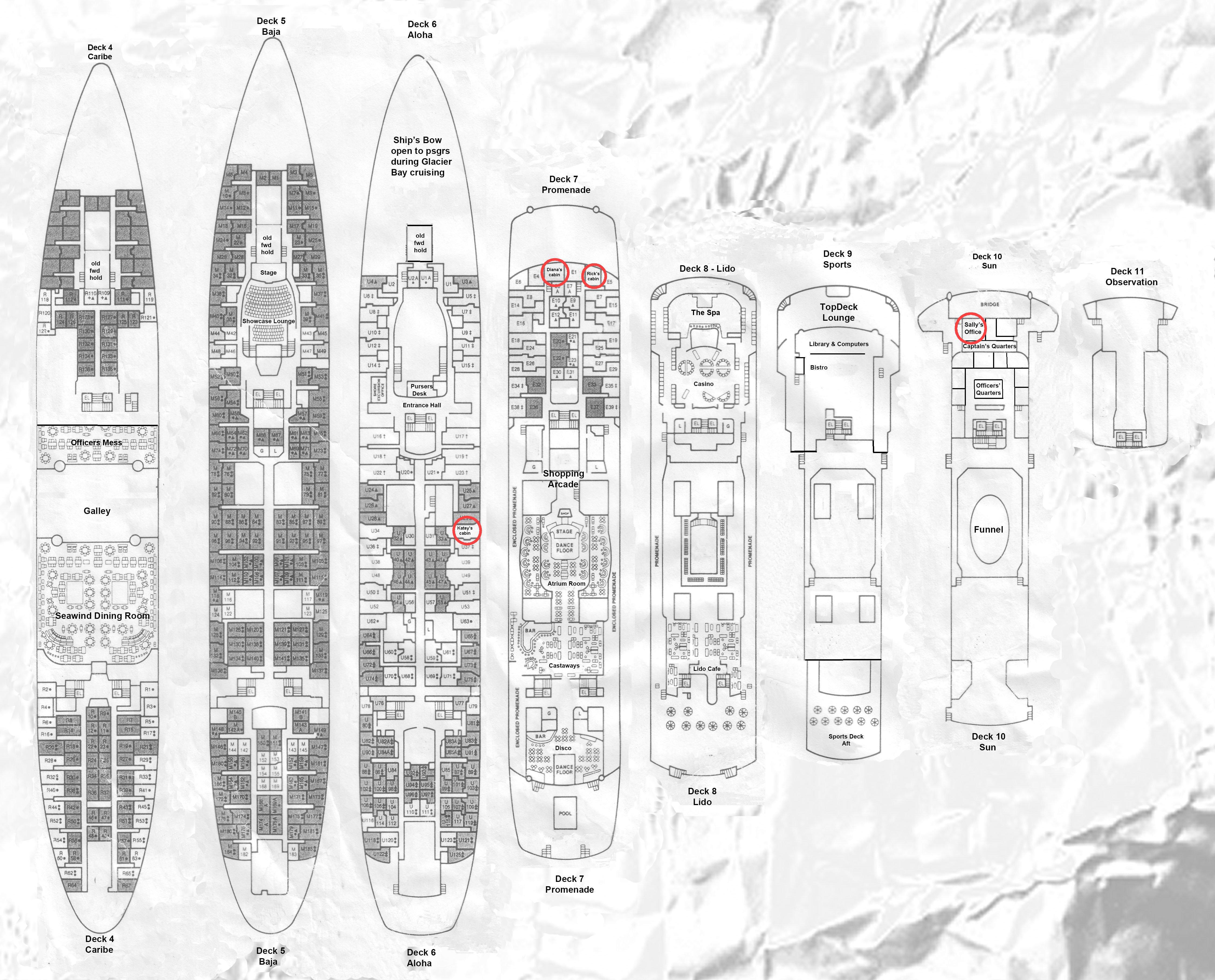 Deck Plans - Cruise ship floor plans